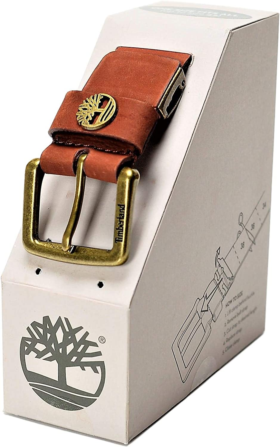 Timberland Mens 40 MM Cut To Fit Boxed Leather Belt