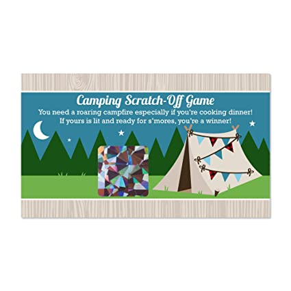 8359c7a92 Image Unavailable. Image not available for. Color: Big Dot of Happiness  Happy Camper - Camping Baby Shower or Birthday Party Game Scratch Off