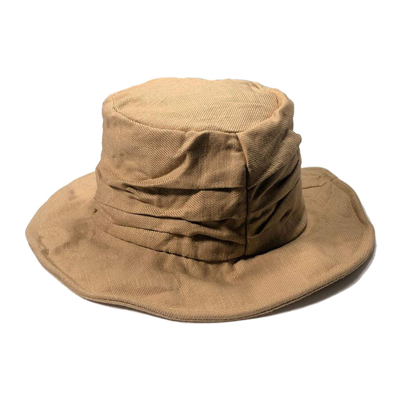 Linen Bucket Hat Men Cotton Gray Bob Hat Women Foldable Uv Solid Travel Wide Brim Autumn Classic Fishing Cap