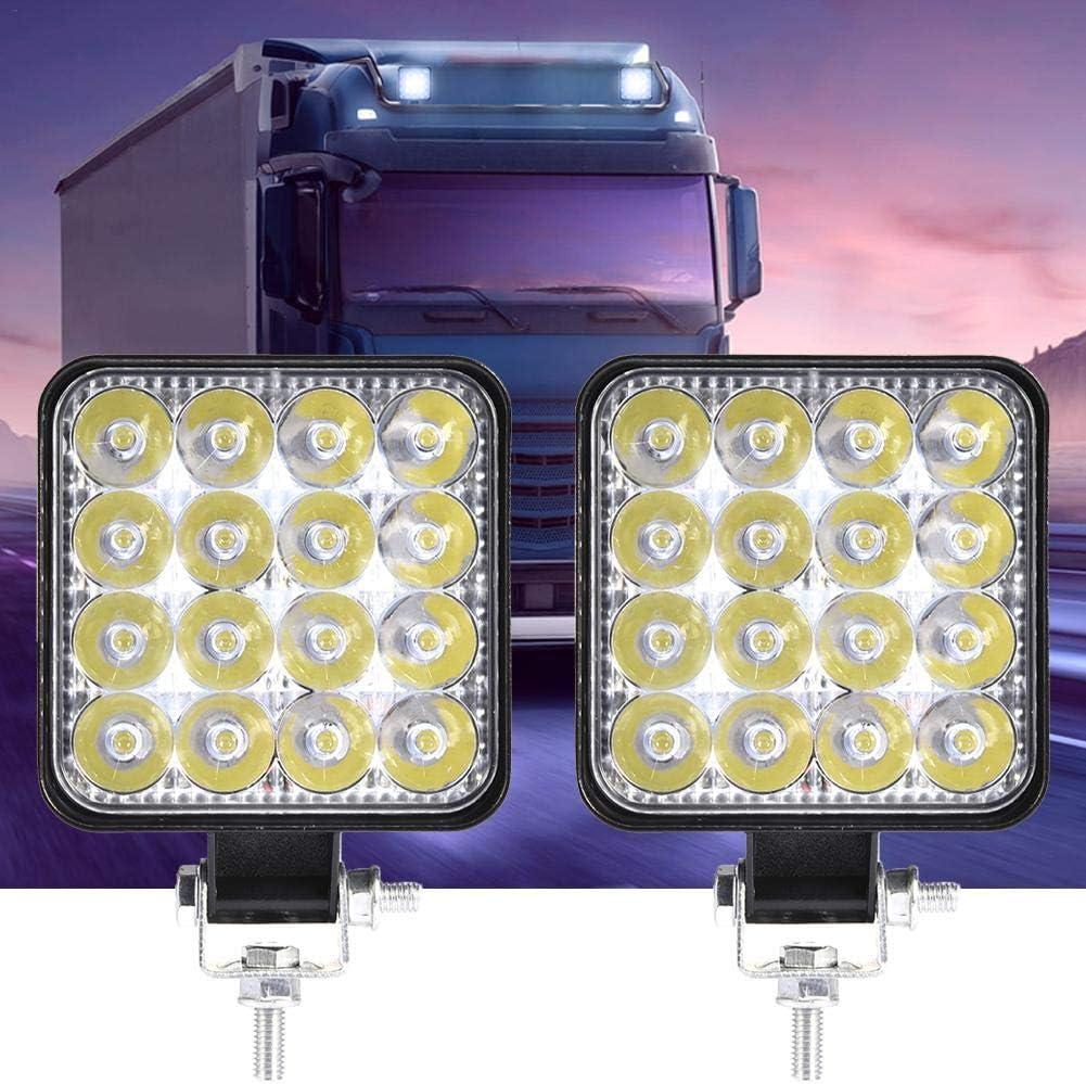 Cuttey LED-Arbeitsscheinwerfer Flood 48W Offroad-Projektor 30-Grad-LED-Leuchten Au/ßenbeleuchtung Im Freien Nebelscheinwerfer Gl/ühlampe Offroad-Platz