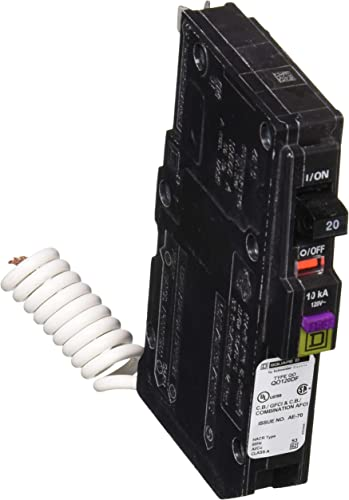 Square D by Schneider Electric QO 20 Amp Single-Pole Dual Function CAFCI and GFCI Circuit Breaker