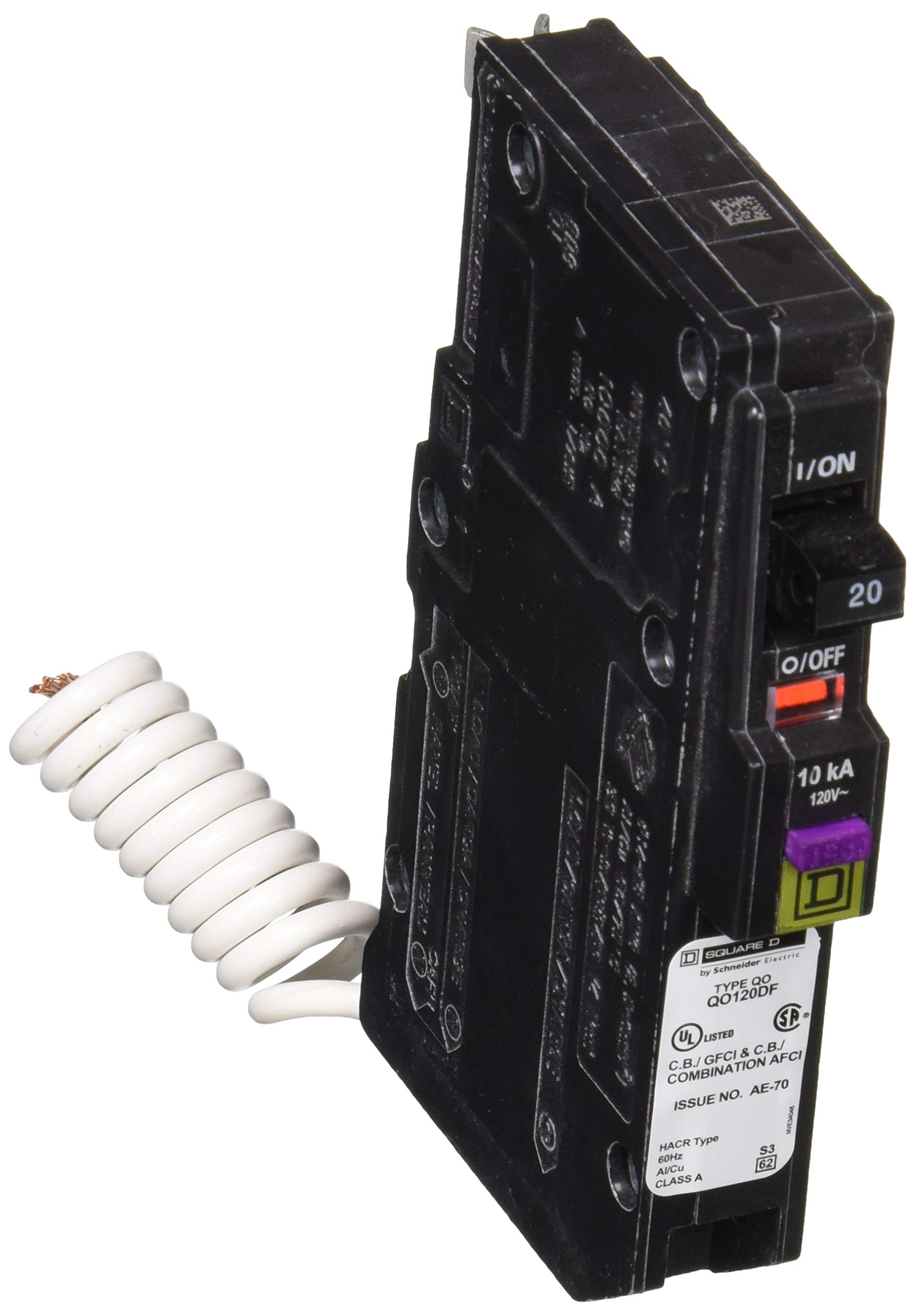 2 Pole 120//240V Ground Fault Circuit Interrupter with Self Test and Lockout Feature Siemens QF260A 60 Amp