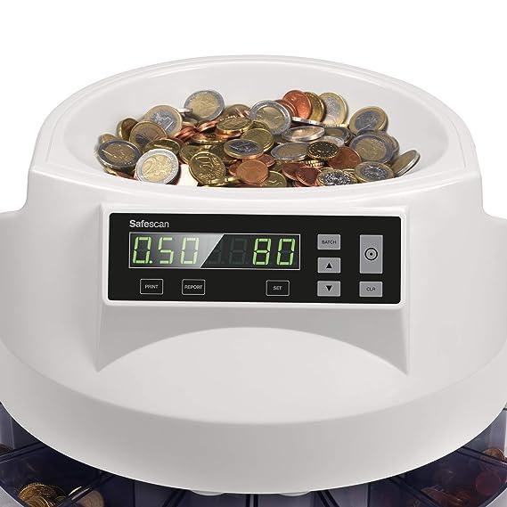 Safescan 1250 - Contadora y clasificadora de monedas para euro: Safescan: Amazon.es: Oficina y papelería