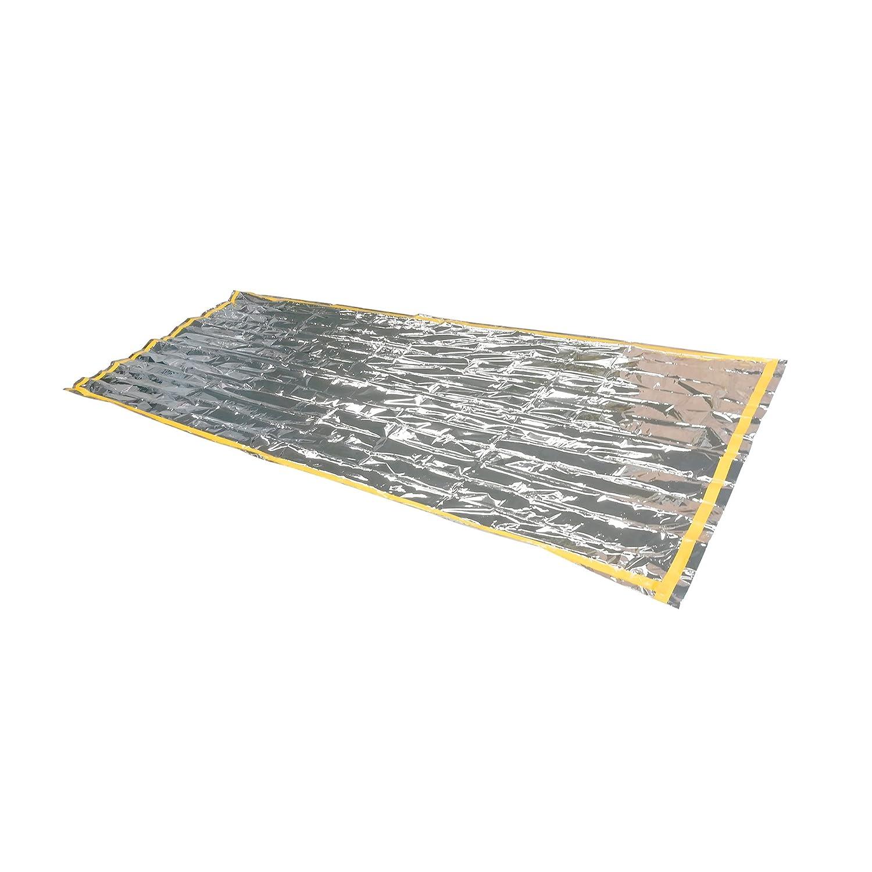 D'urgence de couchage Films de couchage en aluminium wä rmeisolierender Film thermique et pratique (210 x 90 cm) Couverture de survie Oule