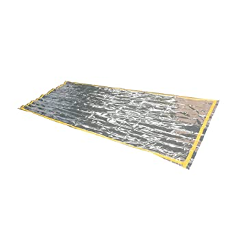 De emergencia Saco de dormir protectores de saco de dormir de aislamiento térmico aluminio pantalla térmicamente y práctico (210 x 90 cm) Rescate manta: ...