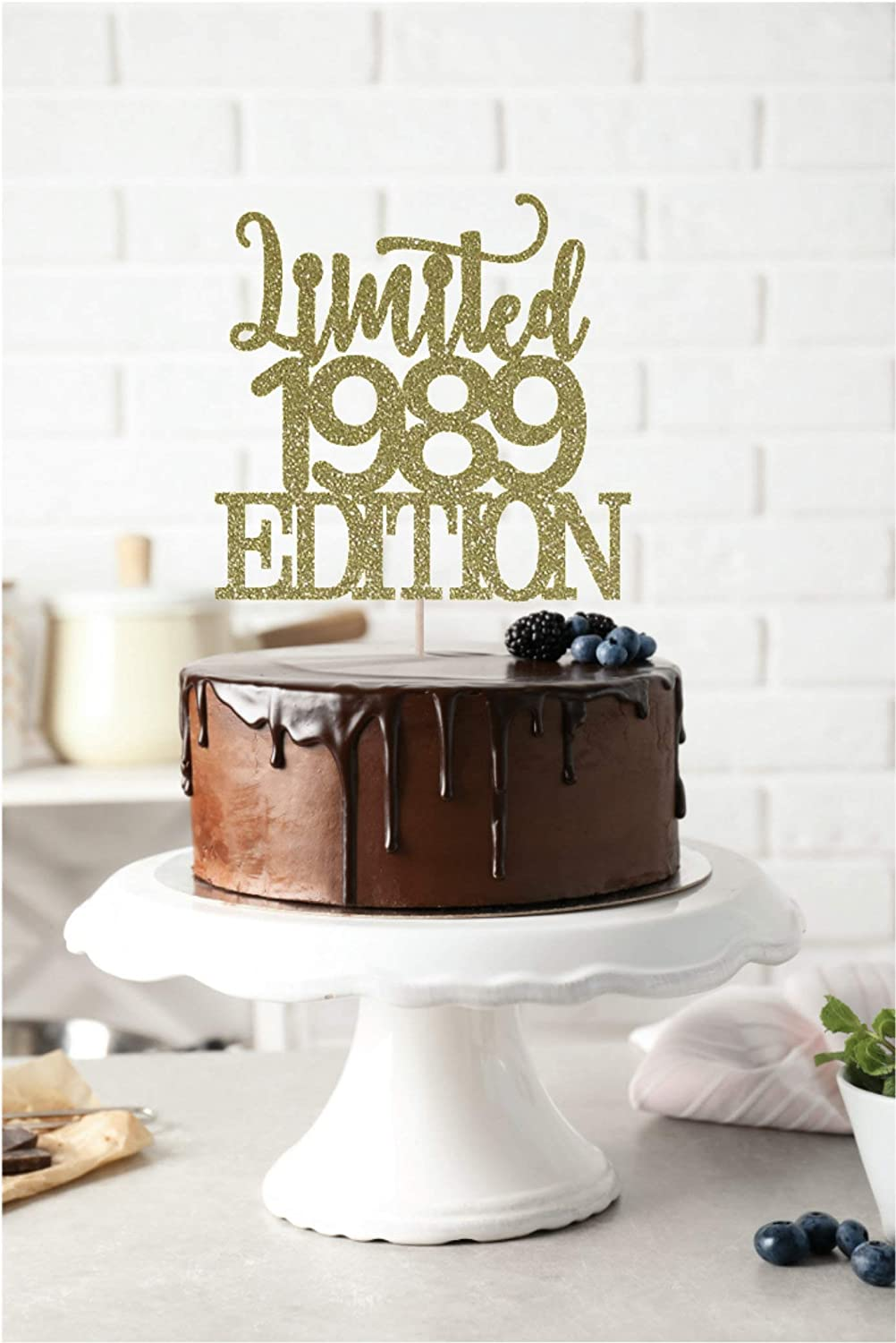 Limited 1989 Edition Cake Topper 30th Anniversary Topper 30 Cake Topper 30th Birthday Cake Topper