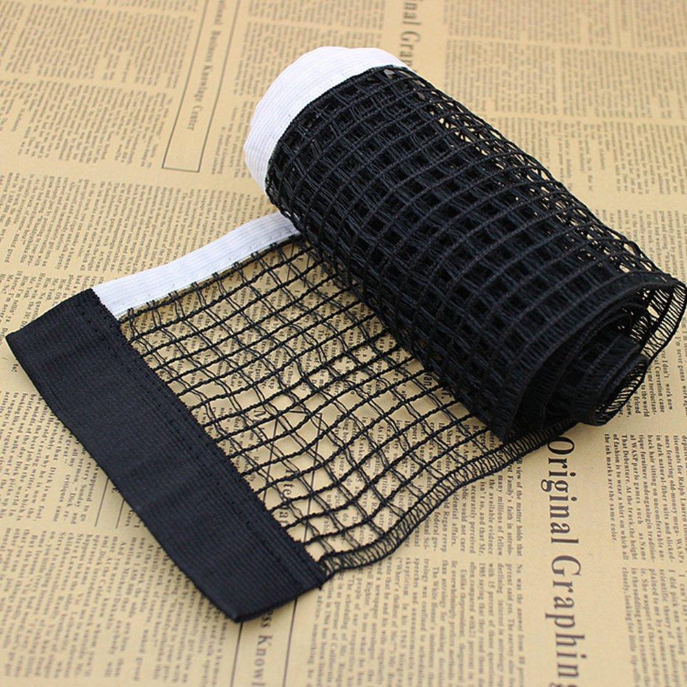 Soccik Nylon Ping Pong Netz Tischtennisnetz Ersatznetz 182 x 15 cm Ping Pong Netz f/ür Unterwegs und Outdoor Schwarz und Wei/ß