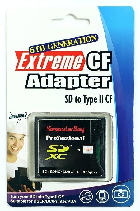 238 opinioni per Komputerbay SD / SDHC / MMC Card a Compact Flash Type II Adattatore alta
