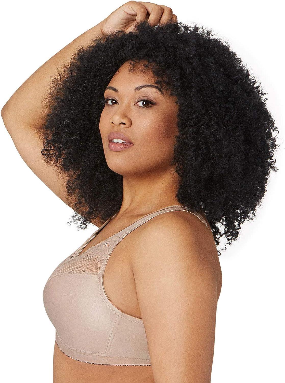 Glamorise Women's Full Figure Wirefree Minimizer Support Bra #1003 at  Women's Clothing store: Minimizer Bras