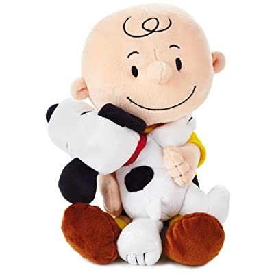 "Hallmark Peanuts Charlie Brown and Snoopy Hugging Stuffed Animal, 8.75"": Toys & Games"