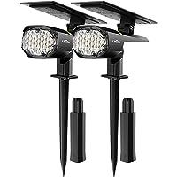 LITOM 30 LED Outdoor Solar Landscape Spotlights Pro, IP67 Waterproof Wireless Solar Powered Landscaping Wall Light for…