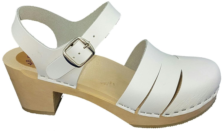 Zuecos de tipo sandalia blancos 40 EU
