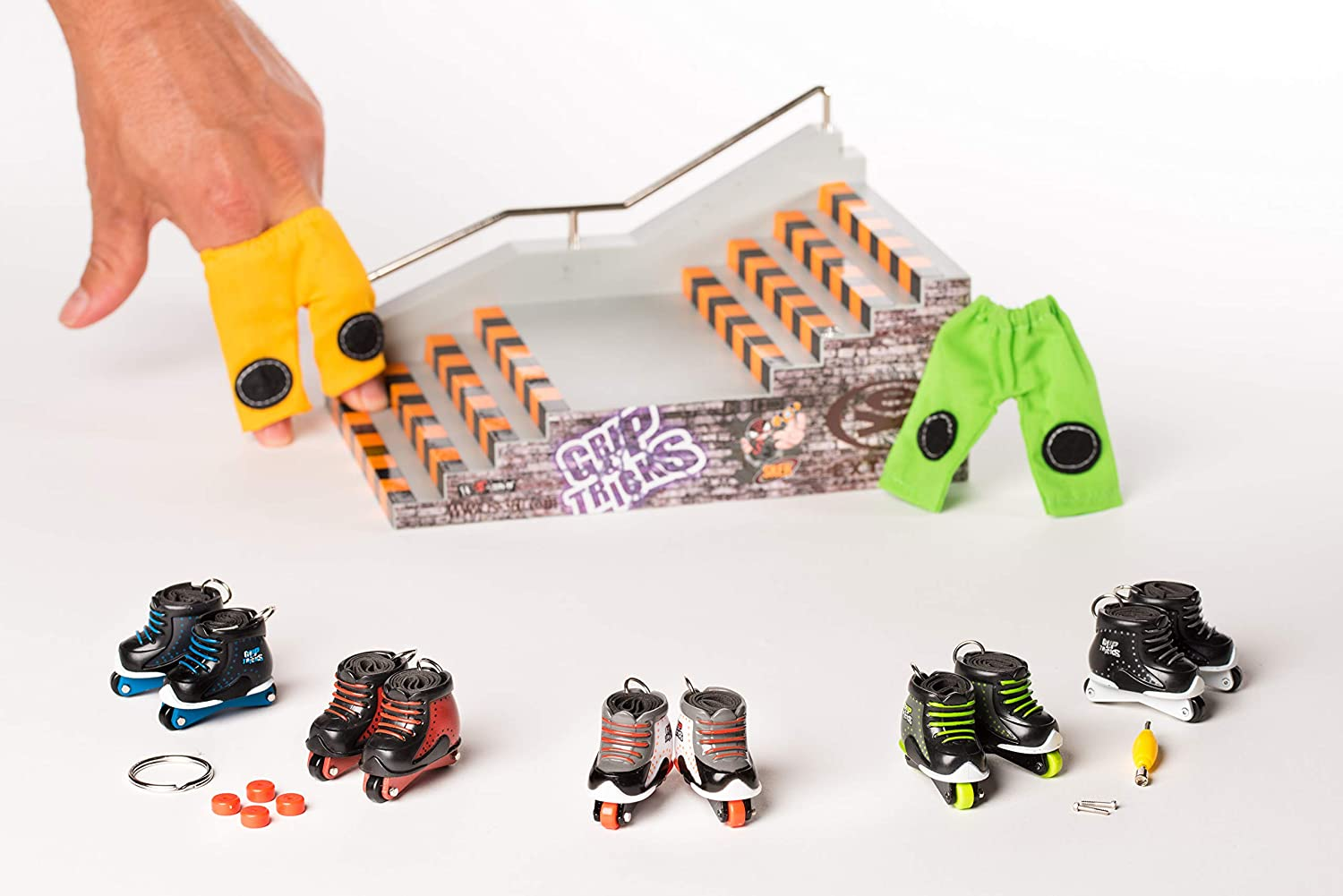 Mini Patines Freestyle Pack1 Grip /& Tricks Finger Roller Freestyle