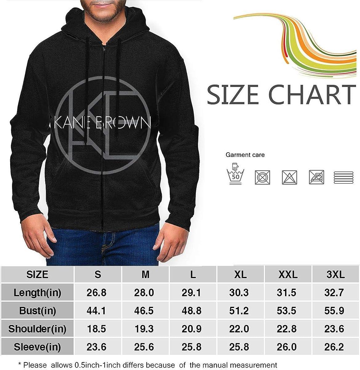 NICHOLAS COATES Kane Brown Better Place Mens Fashion Zipper Pullover Hoodie Sweatshirts