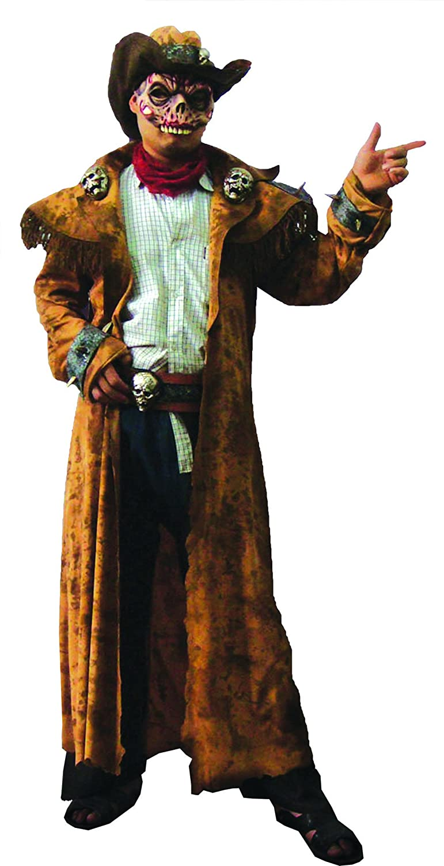 Karnevalsbud - Karnevals-Kostüm Set Zombie Cowboy, One Größe, Mehrfarbig
