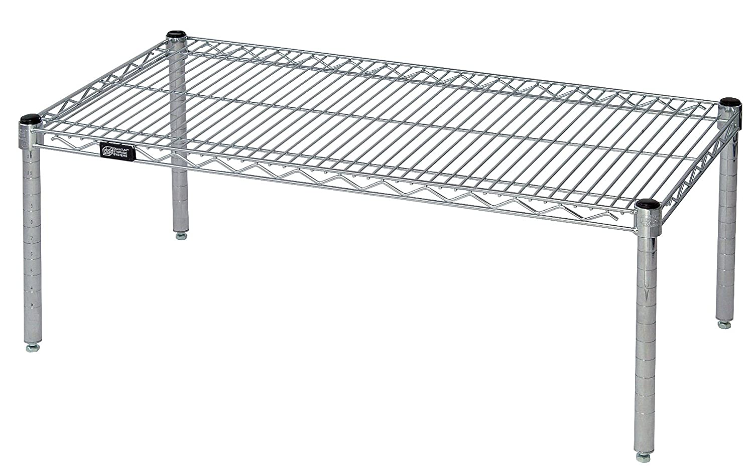 "Quantum Storage Systems 183614PC Shelf Platform Rack, Chrome Finish, 18"" Width x 36"" Length x 14"" Height"