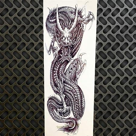 SDEFGH Etiqueta engomada del tatuaje 3PCS Big Flower Arm Temporary ...