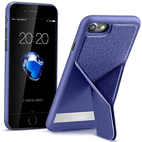 Amazon.com: iPhone 8 Case & iPhone 7 Case, KACOOL【Magnetic Kickstand Folding】22 Stand Angle Modes, Ultra-thin 0.2cm, Premium PU Leather, Light Weight, ...