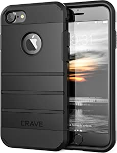 Crave iPhone 8 Case, iPhone 7 Case, Strong Guard Heavy-Duty Protection Case for Apple iPhone 8/7 (4.7 Inch) - Black