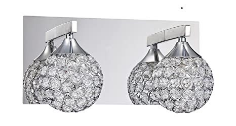 Kendal Lighting Vf4200 2l Ch Crys 2 Light Vanity Fixture