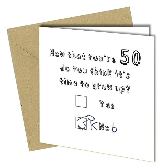 Divertida tarjeta de 50 cumpleaños para niño o hijo, 30 años ...
