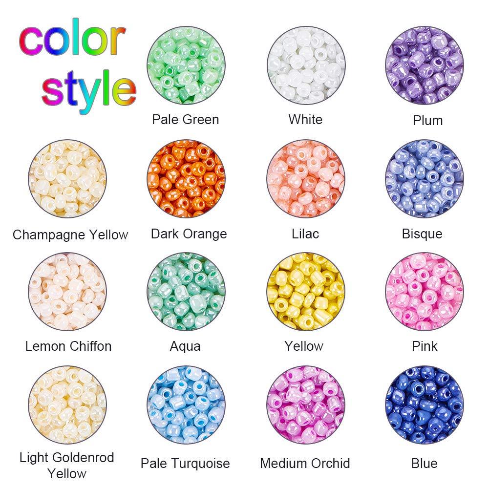 15 Mixed Colors-3000 Pcs 4 mm Cuentas de Cristal para bisuter/ía PandaHall Elite