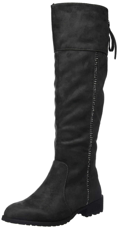XTI Bota Sra. Antelina Gris, Zapatos de Tacón con Punta Cerrada para Mujer Gris (Gris)