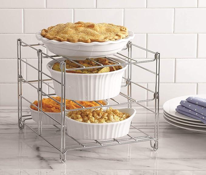 烘焙神器,厨娘必备!Betty Crocker 可折叠三层烤箱金属架