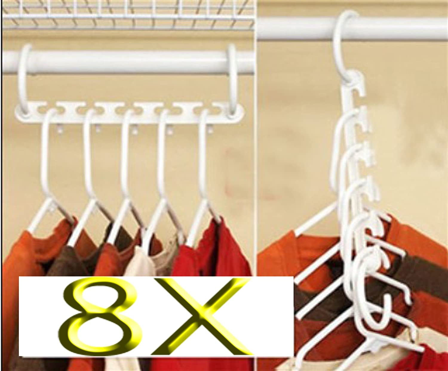 Exceptional 8 X Space Saver Wonder Magic Hanger Closet Organizer: Amazon.co.uk: Kitchen  U0026 Home