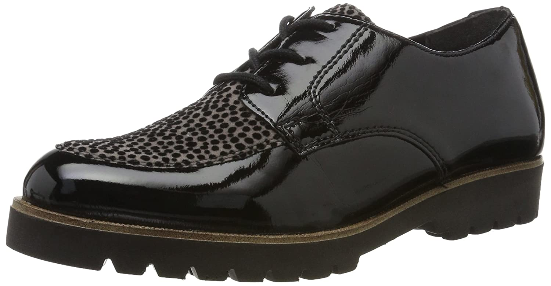 Remonte D0103, Zapatos de Cordones Oxford para Mujer 37 EU|Negro (Schwarz/Grau / 03)