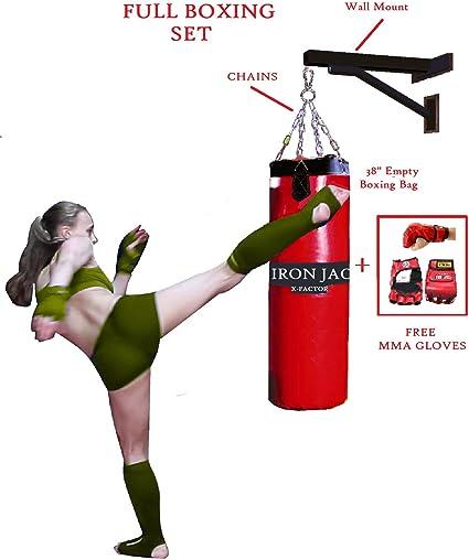 12'' Wall Bracket Punch Bag MMA Steel Wall Mount Heavy Duty Kick Boxing Bag