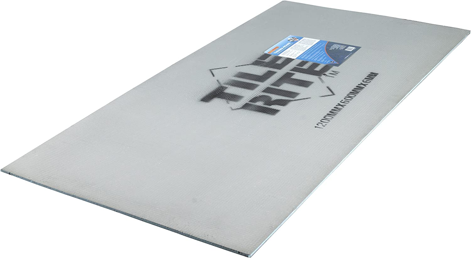 TILE RITE THB810 6 mm Thermaboard Tile Backer Board 1200 x 600 x 6 mm, Pack of 15, Grey, Set of 15 Pieces
