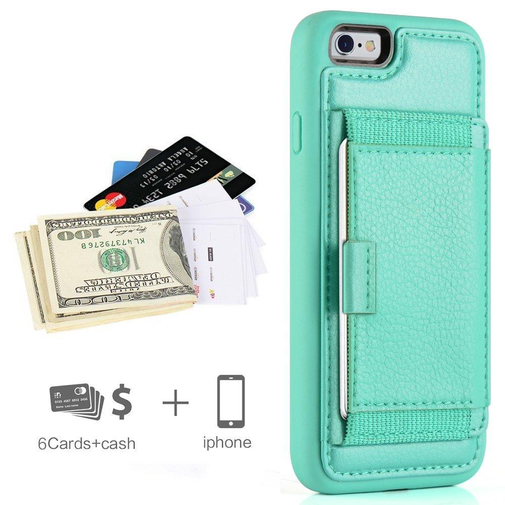 Amazon.com: iPhone 6 Funda, iPhone 6S titular de la tarjeta ...