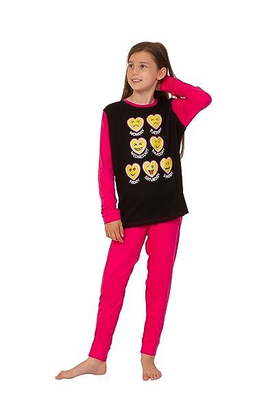 thepyjamafactory - Pijama - para niña Rosa Rosa 9-10 Años