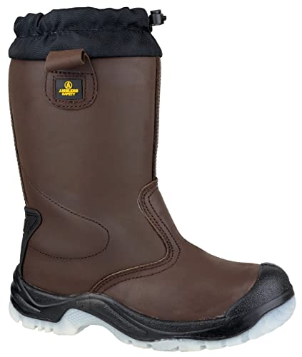 843ef4e5623 Amblers Steel FS219 Mens Safety Pull On Riggers Boots Textile Leather Slip  On