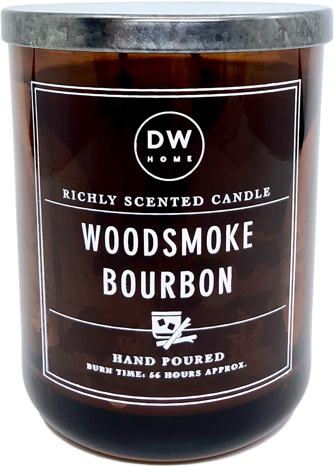 DW Home Large Woodsmoke Bourbon Scented Candle