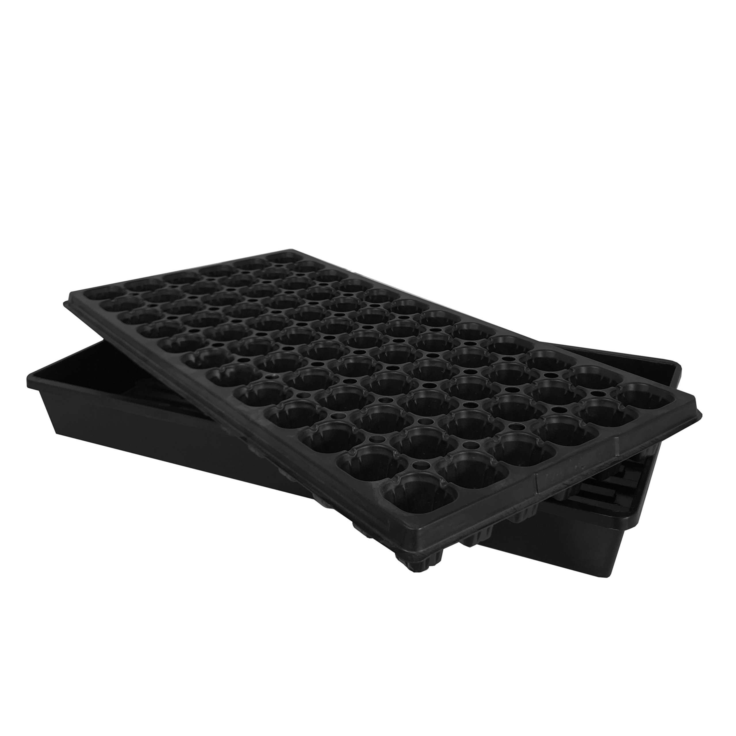 Oppolite 10-Pack 1020 Seeds Starter Tray Kit Flat Tray+72 Cell Tray for Indoor seeds Propagation (10-Pack) by Oppolite