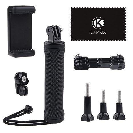CamKix La estabilización de empuñadura Compatible con GoPro Hero con doble montaje, adaptador de trípode