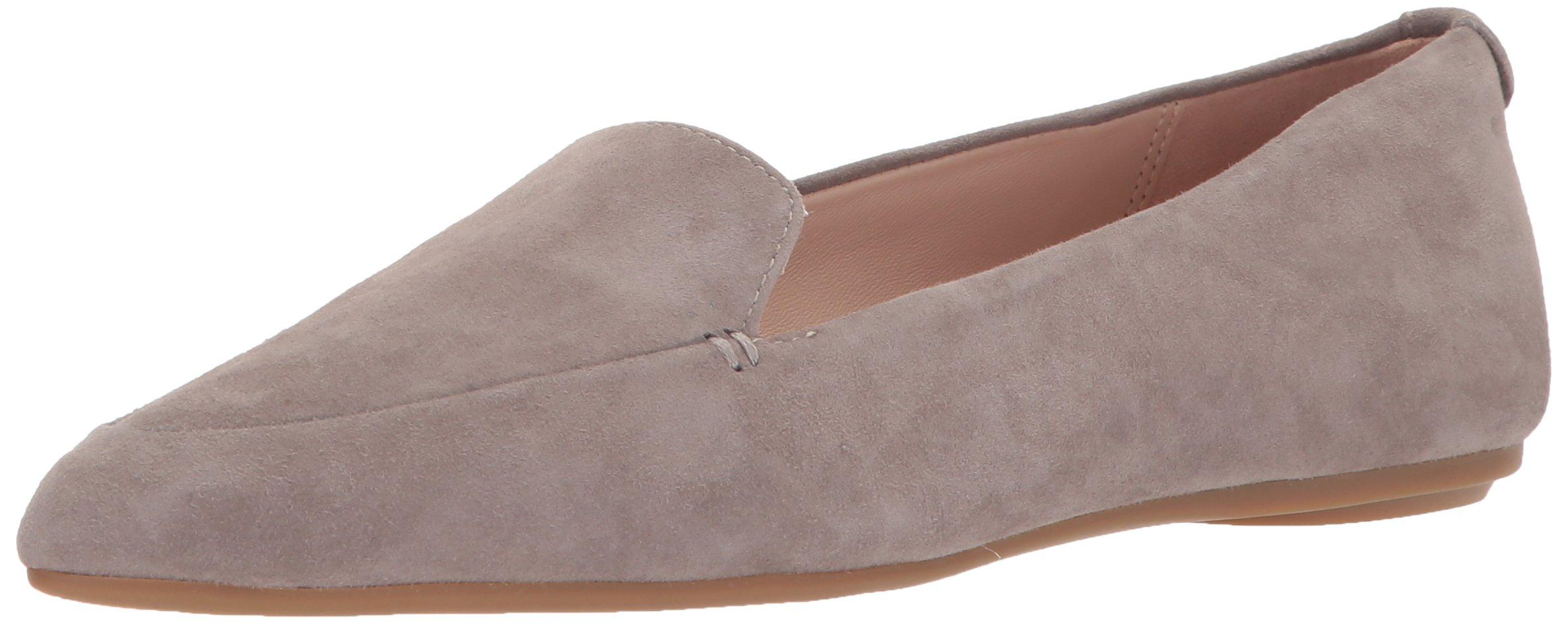 Taryn Rose Women's Faye Silky Suede Loafer Flat, Grey, 7.5 M M US