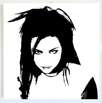 Evanescence Amy Lee Cadre Moderne Bois Panneau MDF Peint La Main POP