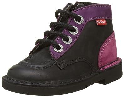 Kickers Neorallye, Desert Boots Mixte Enfant, Noir (Noir), 27 EU