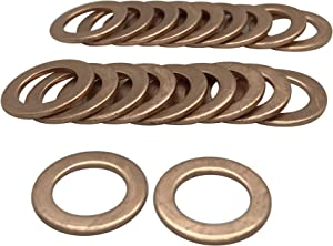 12 mm Copper Crush Washers Brake Hose Spacer Flat M12 fit on 12mm Bolt Pack of 20