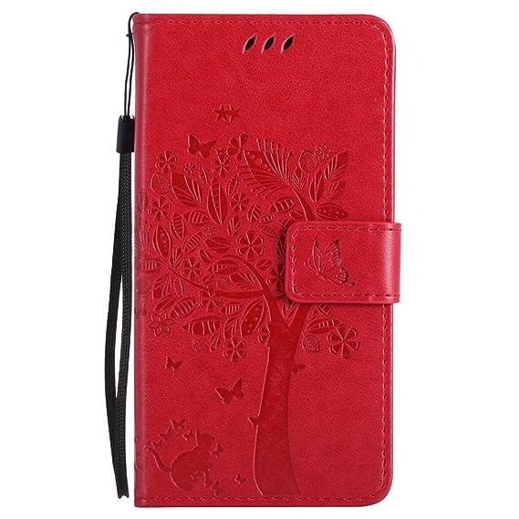 Nancen Tasche Hülle für HTC One M8 (5 Zoll) Flip Schutzhülle Zubehör Lederhülle mit Silikon Back Cover PU Leder Handytasche i