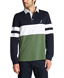 Adenauer & Co Camisa Polo de Manga Larga Rugby Polo: Amazon.es ...