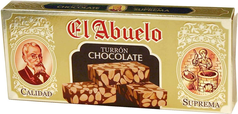 Turrón de Chocolate con Almendras El Abuelo, 300 gramos: Amazon.es ...
