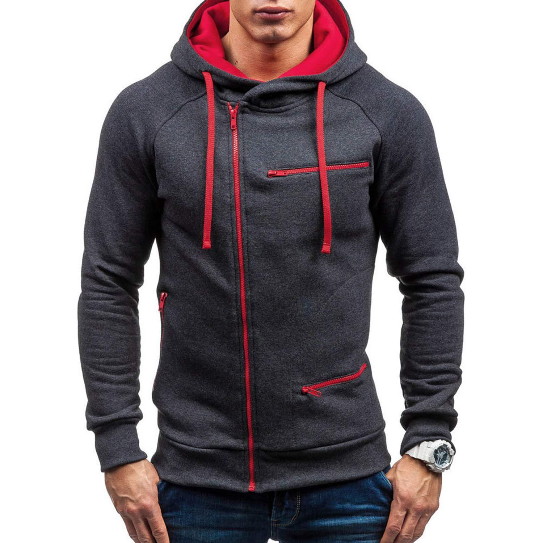 Men Hoodies Autumn Sweatshirts Mens Hoodie with Zipper Male Long Sleeve Big Size
