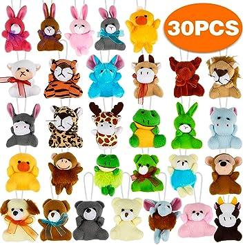 Amazon.com: Aitbay - Juego de 30 mini juguetes de peluche ...