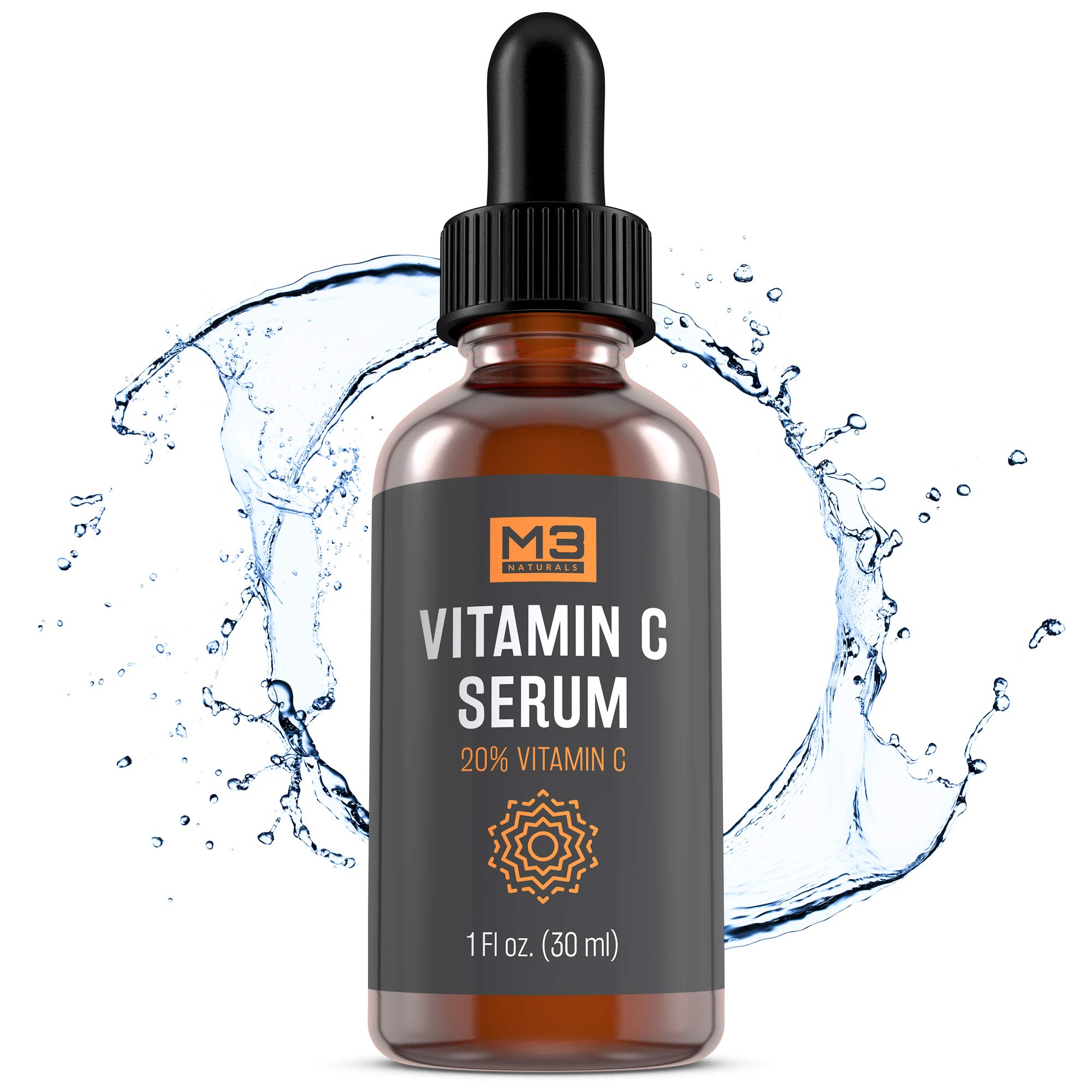 Vitamin C Serum for Face, Anti-Aging Topical Facial Serum with Hyaluronic Acid + Vitamin E, 1 fl oz