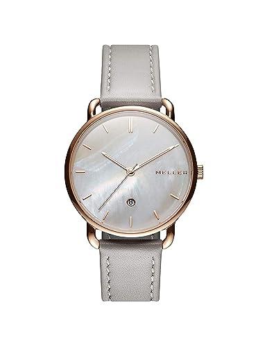 Meller Reloj Analógico para Unisex Adultos de Cuarzo con Correa en Acero Inoxidable W3RN-1GREY: Amazon.es: Relojes
