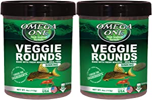 Omega One Veggie Rounds, 14mm Rounds, Sinking, 4.2 oz, Pack of 2